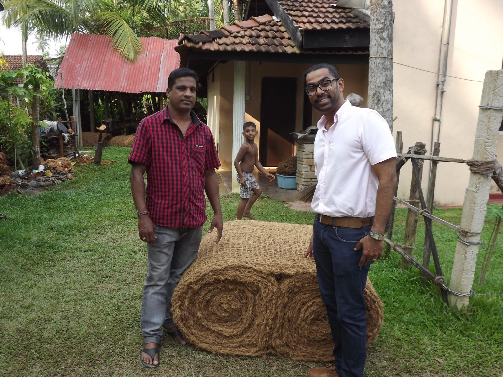 Sri Lanka village - source of sustainable coir raw material
