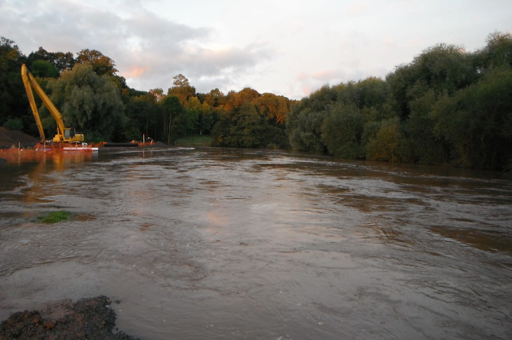 A major flood just before completion