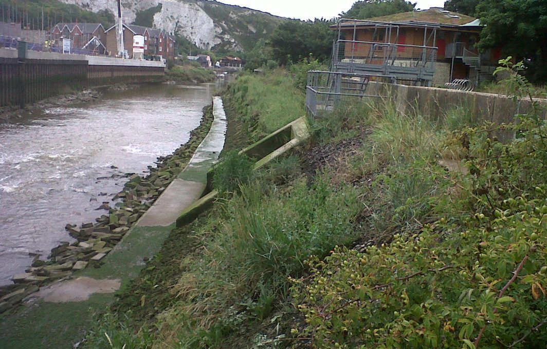 Lewes in Aug 2015, banks naturalising
