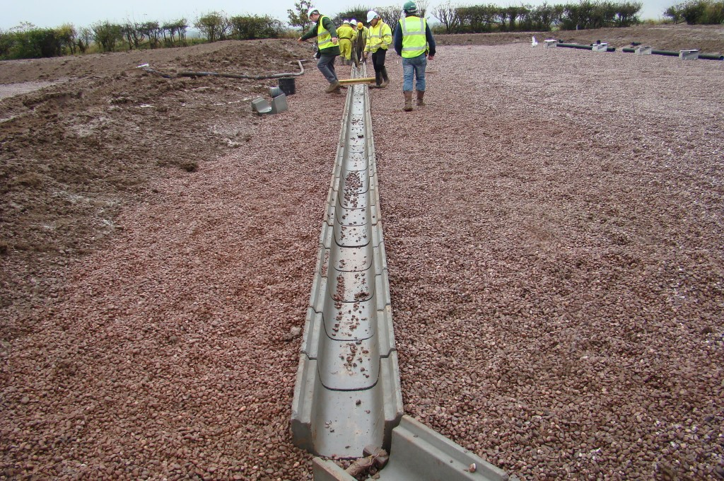 Construction of Sub Surface Flow Reedbeds