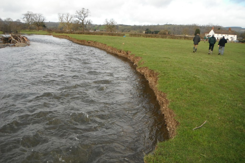 Over 200m of servere bank erosion
