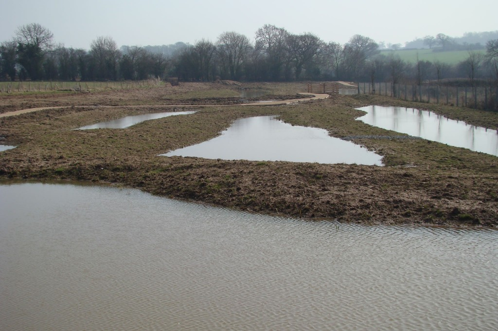 Completed treatment ponds