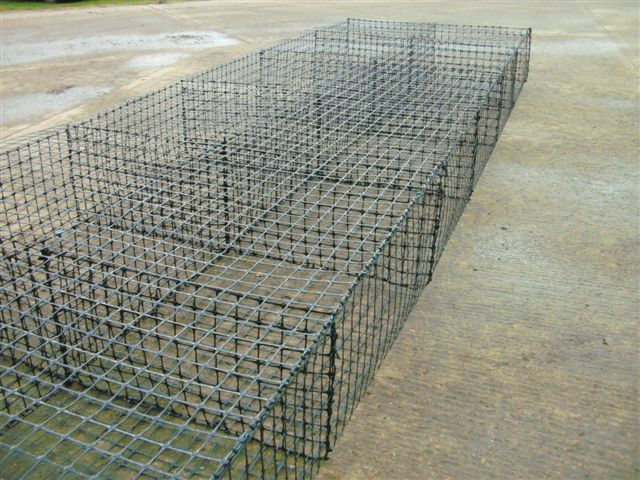 SSLA30 Grid gabion fabricated off-site for coastal protection