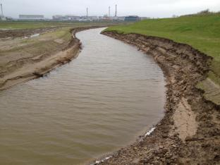Damage to area after tidal surge with no VMax C350 protection