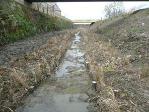 Finished channel awaiting flow to be returned after works