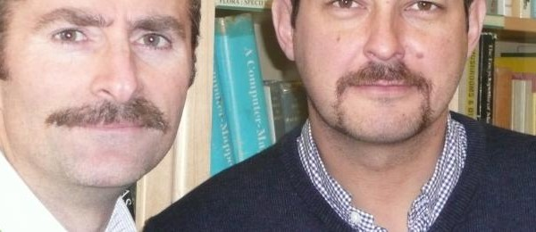 Richard and David in Movember competition
