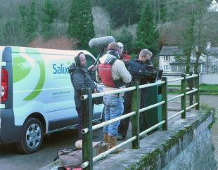 The BBC Countryfile team getting ready to shoot
