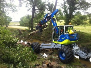 Machine in action at Swinsty
