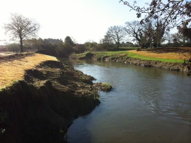 Erosion at Wisley Golf Course River Wey