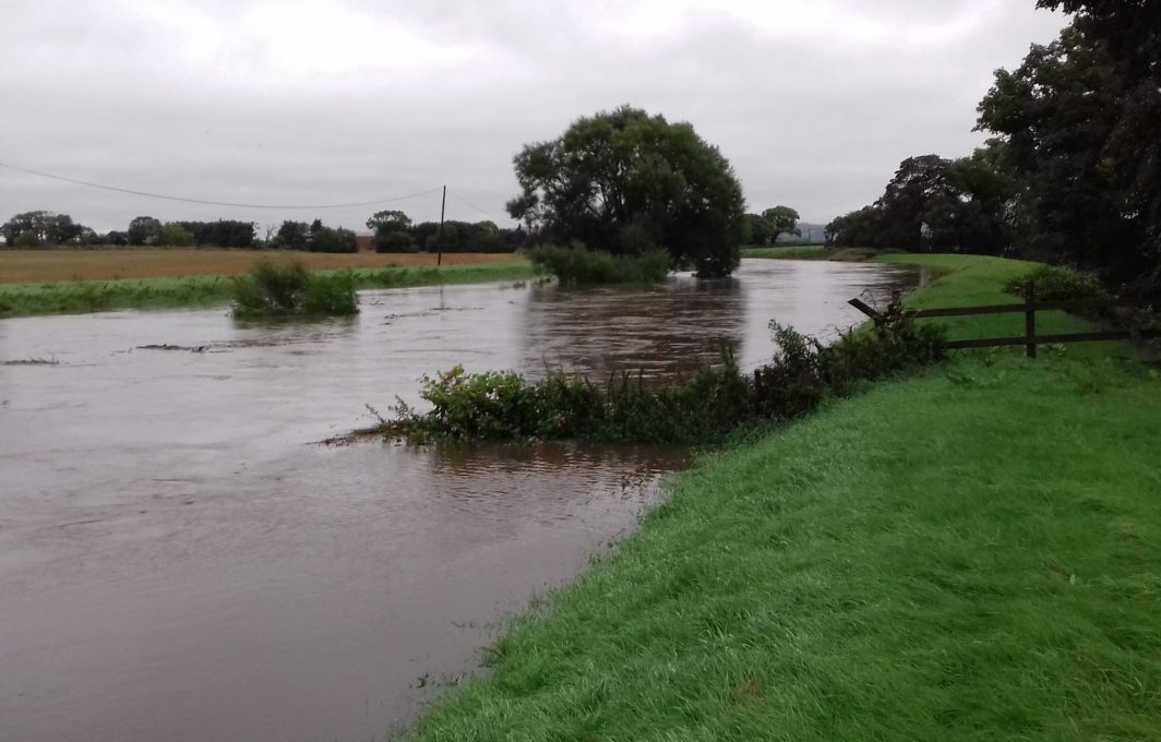 Flooding at St Michaels-on-the-Wyre