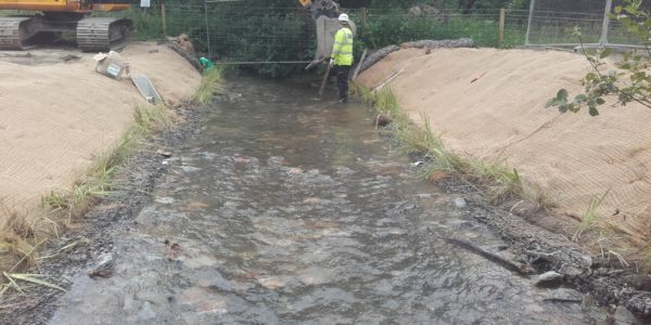 Stream reinstated over erosion controls