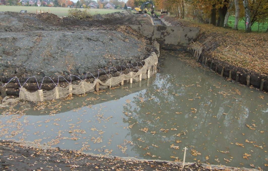 Aqualogs just installed as erosion control