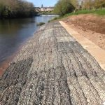 Rock Mattresses erosion control on Exeter Flood Defence Scheme