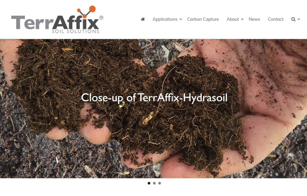 TerrAffix Soil Solutions website
