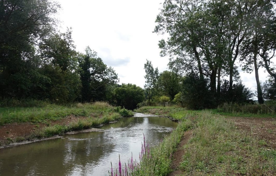 Phase 1 new bypass channel creating new chalk stream habitats